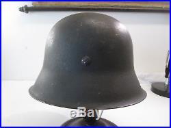 Wwii German Steel Helmet Model 1942 With Original Liner Torn #l264