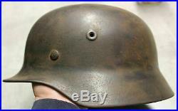 Wwii German Wehrmacht M40 Heer Camouflage Combat Helmet Bring Back Relic