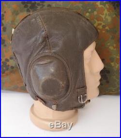 fc0cb7e64c4 Wwii Original German Luftwaffe Lkp W101 Winter Flight Helmet Marked ...